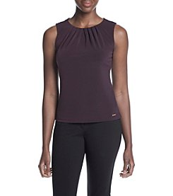 Calvin Klein Petites' Solid Pleat Neck Cami