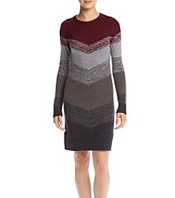 A. Byer Chevron Sweater Dress