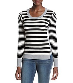 Pink Rose® Striped Color Block Sweater