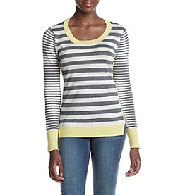 Pink Rose® Color Block Striped Sweater