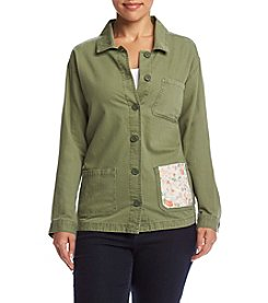 Hippie Laundry Plus Size Patched Pocket Jacket