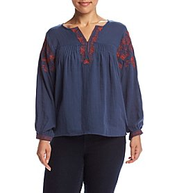 Hippie Laundry Plus Size Peasant Top