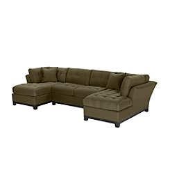 HM Richards Beckham 3-pc. Espresso Sectional