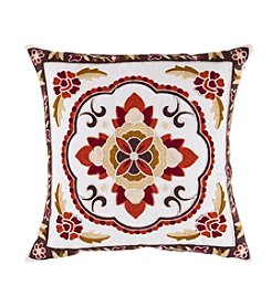 Chic Designs Red Botanical Decorative Pillow