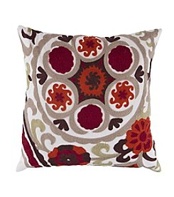 Chic Designs Swirl Botanical Decorative Pillow