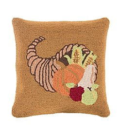 Chic Designs Fall Harvest Cornucopia Decorative Pillow