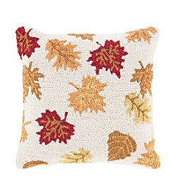 Chic Designs Fall Harvest Leaves Decorative Pillow
