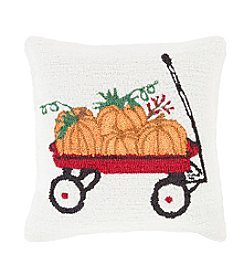 Chic Designs Fall Harvest Pumpkin Wagon Decorative Pillow