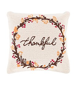 Chic Designs Fall Harvest Thankful Decorative Pillow
