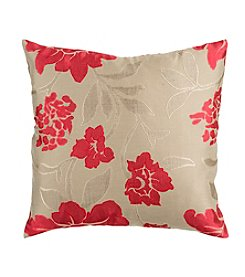 Chic Designs Red Blossom Decorative Pillow