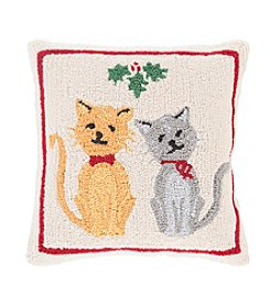 Chic Designs Winter Cats Decorative Pillow