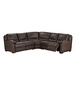 Natuzzi Editions® Genoa Brown Leather 3-pc. Sectional