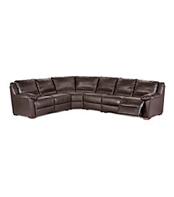 Natuzzi Editions® Genoa Brown Leather 4-pc. Sectional