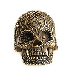 Steel Impressions Stainless Steel Sugar Skull Ring