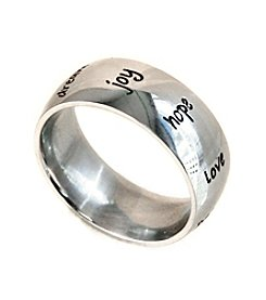 Uptown Steel Stainless Steel Inspirational Ring