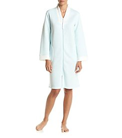 Miss Elaine® Zip Front Silky Robe