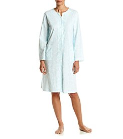 Miss Elaine® Paisley Snap Front Robe
