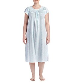 Miss Elaine® Plus Size Paisley Nightgown