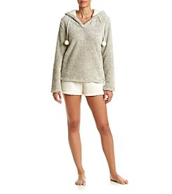PJ Couture® Hoody And Shorts Pajama Set