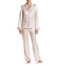 Linea Donatella® Hearts Satin Pajama Set