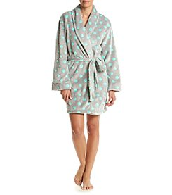 PJ Couture® Dots Fleece Robe