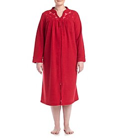 Miss Elaine® Plus Size Brushed Thermal Robe