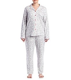 Intimate Essentials® Plus Size Paisley Printed Pajama Set