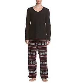 Intimate Essentials® Fair Isle Printed Pajama Set