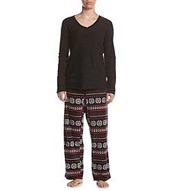 Intimate Essentials® Fair Isle Printed Pajama Set