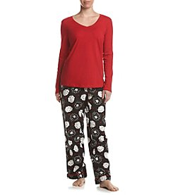 Intimate Essentials® Sheep Flannel Printed Pajama Set