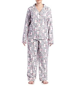 Intimate Essentials® Plus Size Cups Printed Pajama Set