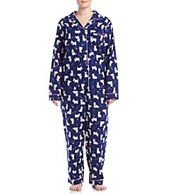 Intimate Essentials® Plus Size Dog Printed Pajama Set