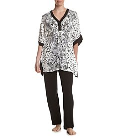 Ellen Tracy® Paisely Caftan Capri Set