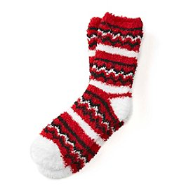 KN Karen Neuburger Zig Zag Cuffed Slipper Socks