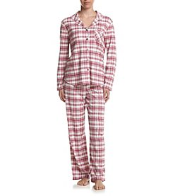 KN Karen Neuburger Girlfriend Frosty Plaid Pajama Set
