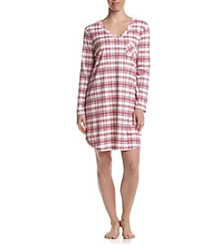 KN Karen Neuburger Frosty Plaid Sleepshirt