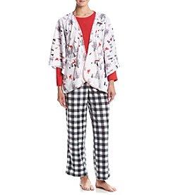 KN Karen Neuburger Buffalo Check Poncho Pajama Set