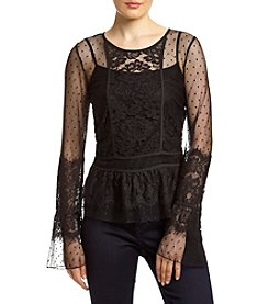Sequin Hearts® Lace Blouse