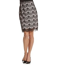 Sequin Hearts® Lace Overlay Pencil Skirt
