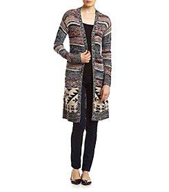Sequin Hearts® Stripe Sweater Cardigan