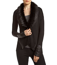XOXO® Faux Fur Trim Sweater