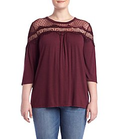 Living Doll® Plus Size Lace Yoke Top