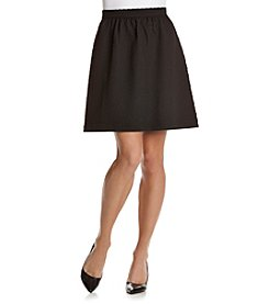 Kensie® Raised Grid Skirt