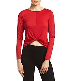 Kensie® Knot Front Knit Top