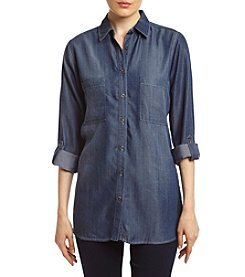 Skylar & Jade™ Mixed Texture Denim Shirt