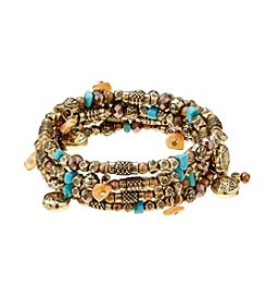 Ruff Hewn Multi Color Four-Row Coil Bracelet
