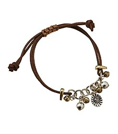 Ruff Hewn Two Tone Leather Corded Bracelet