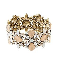 Relativity® Goldtone Stretch Bracelet