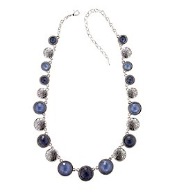 Napier® Faceted Stone Collar Necklace