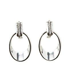 Napier® Doorknocker Clip Earring